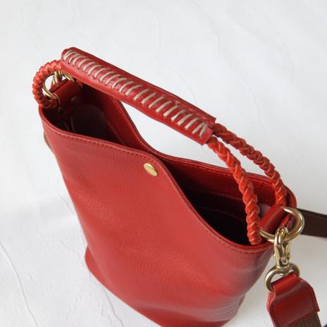 2Wayバケツ型バッグ  Red