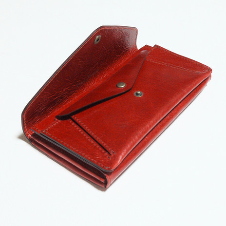 2 Flap Long Wallet Red