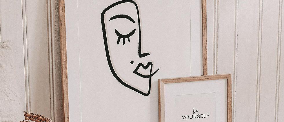 Art Line Frau - Kunstdruck