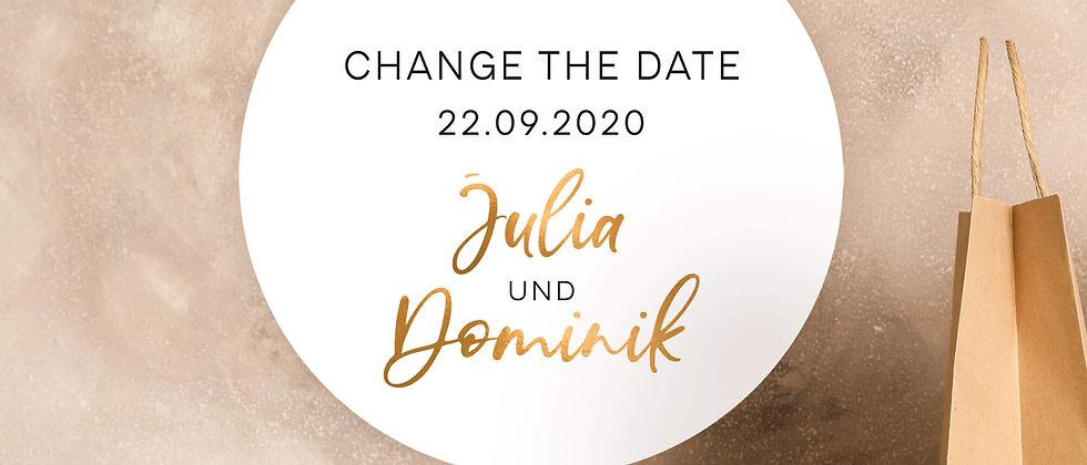 Change the date, Zur Hochzeit - Aufkleber (Farbe+)
