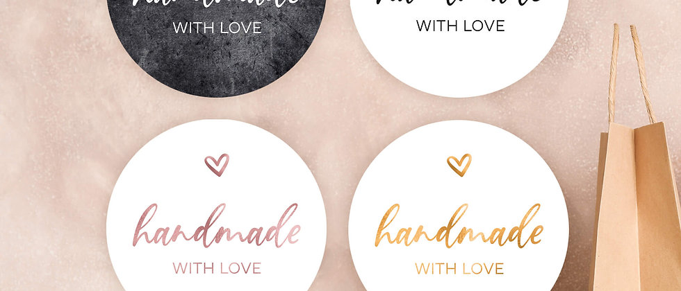 Handmade - Aufkleber (Farbe+)