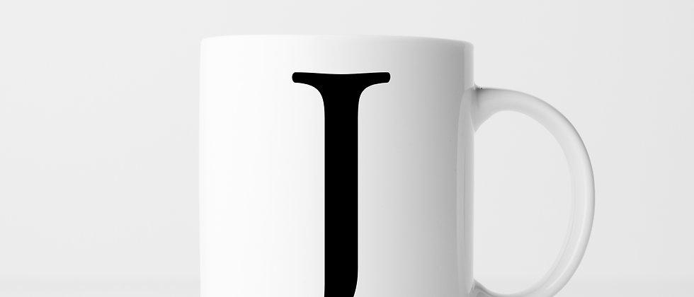 Buchstabe J - Keramiktasse