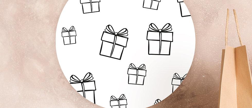 Geschenke - Aufkleber (Größe+/Farbe+)