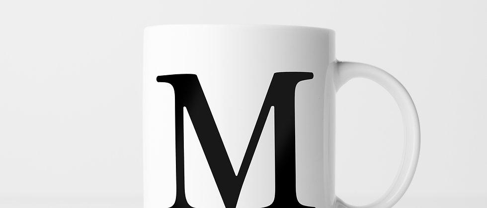 Buchstabe M - Keramiktasse