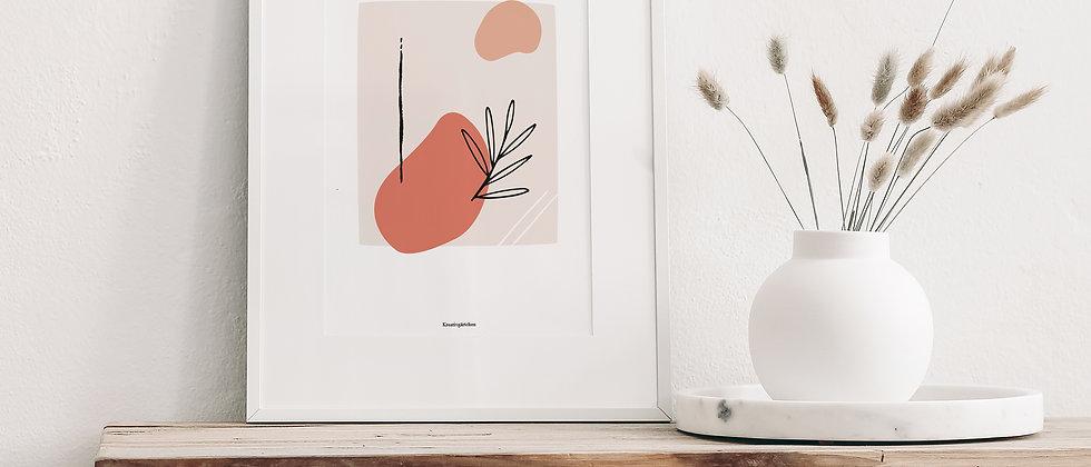 Abstrakter Kunstdruck, Art - Ein bisschen Ordnung