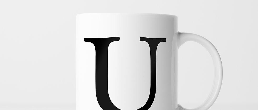Buchstabe U - Keramiktasse