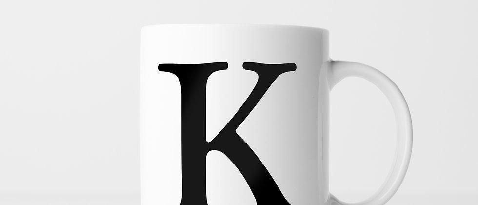 Buchstabe K - Keramiktasse