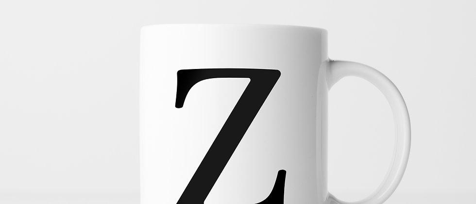 Buchstabe Z - Keramiktasse