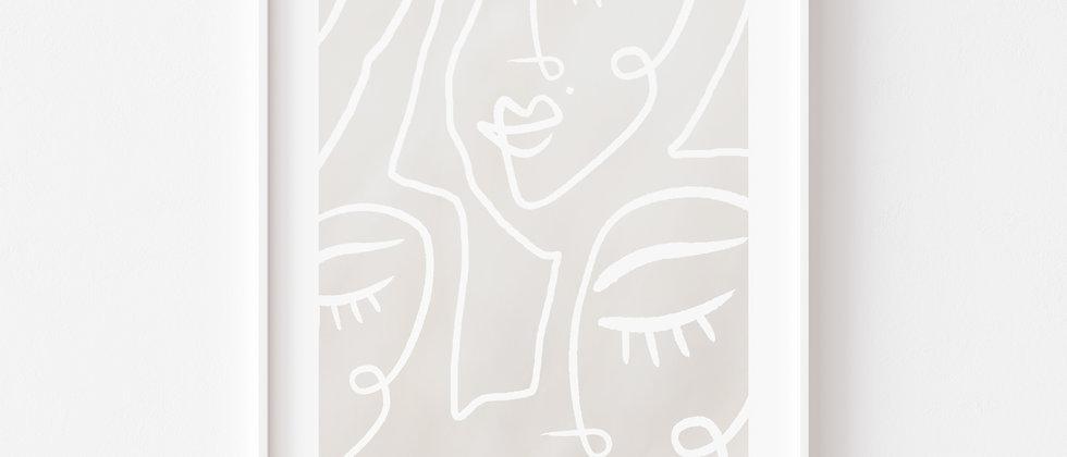 One Line - Art, Wanddeko (Größe+)
