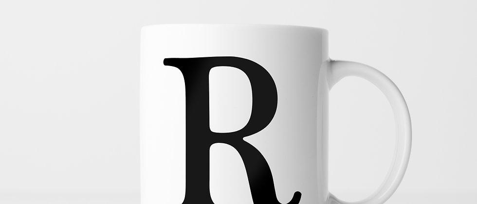 Buchstabe R - Keramiktasse