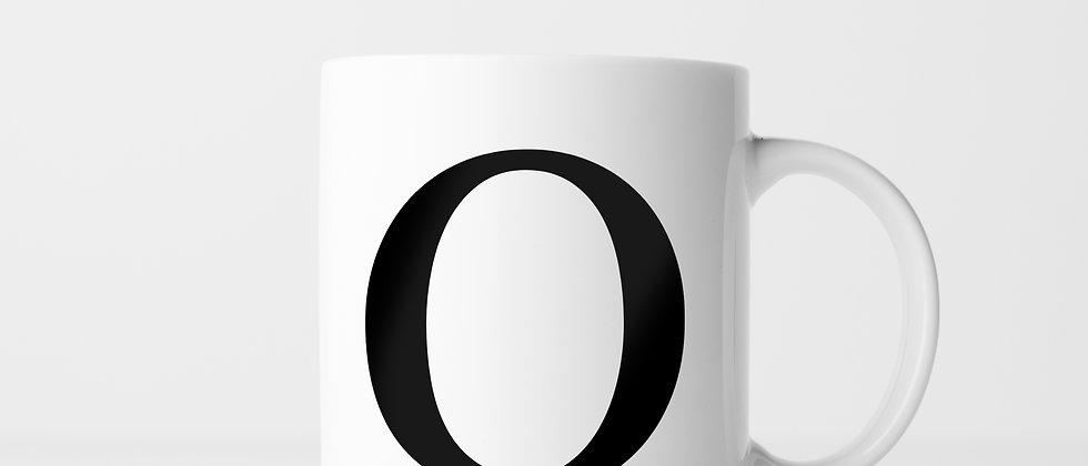 Buchstabe O - Keramiktasse