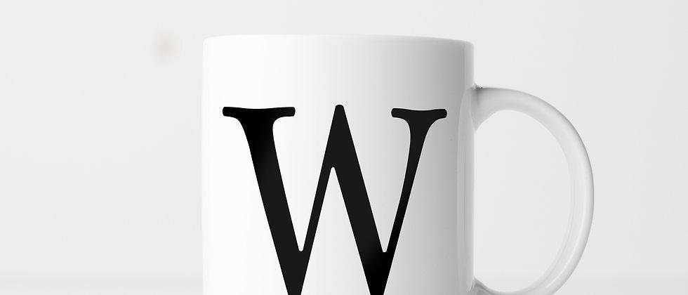Buchstabe W - Keramiktasse