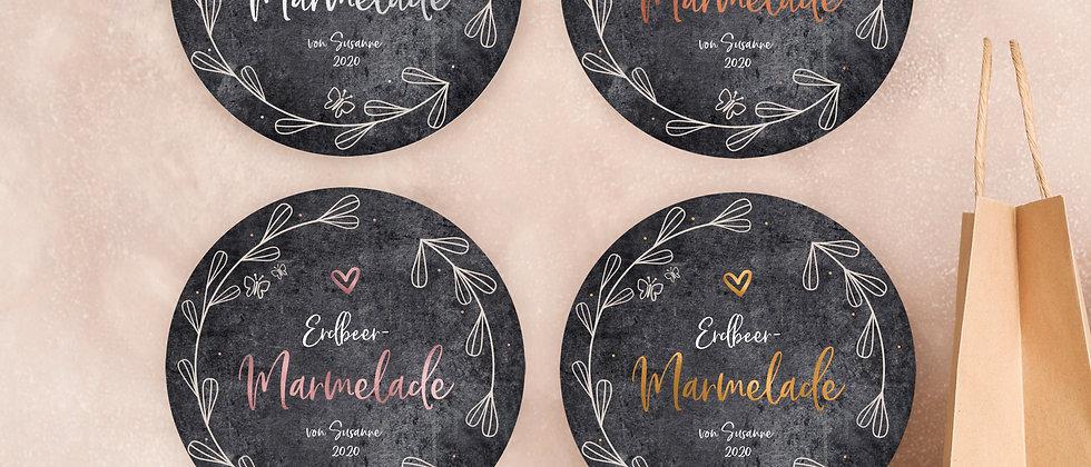 Marmelade - Aufkleber, graumeliert (Farbe+)