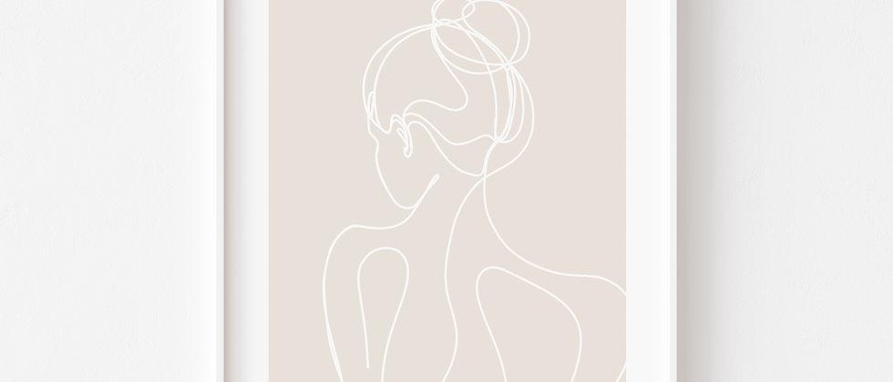Woman - Art, Wanddeko