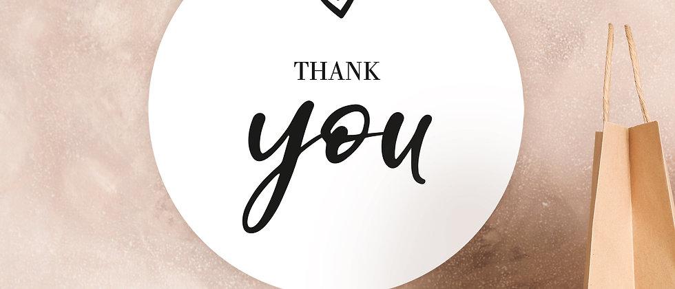 Thank you – Aufkleber (Farbe+)