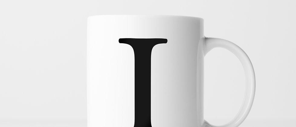Buchstabe I - Keramiktasse