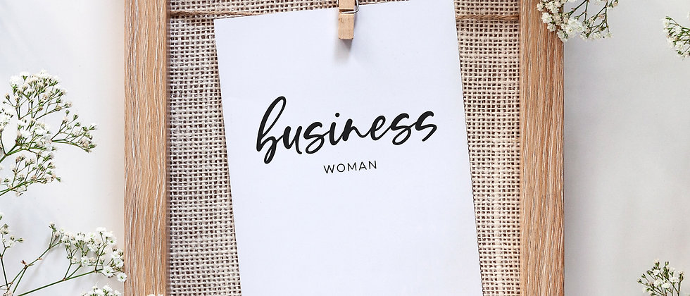 Businesswoman - Karte, A6