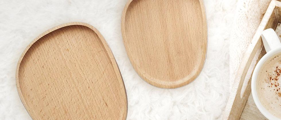 Asymmetrische Holzaufbewahrung, Set - Ein bisschen Ordnung
