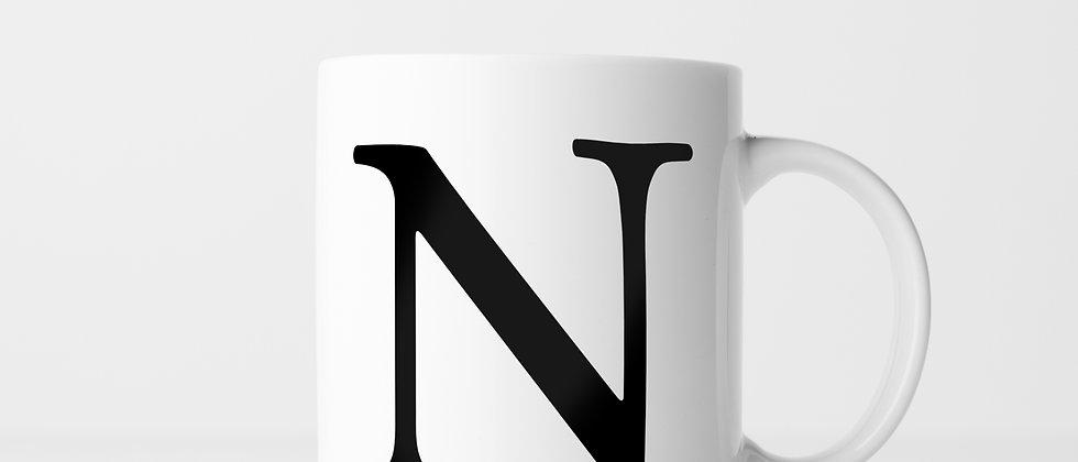 Buchstabe N - Keramiktasse