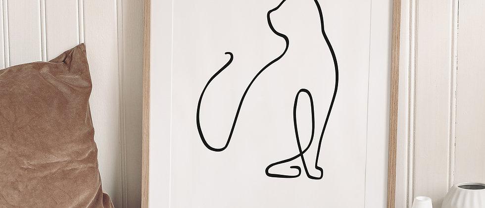 Katze - Art, Wanddeko