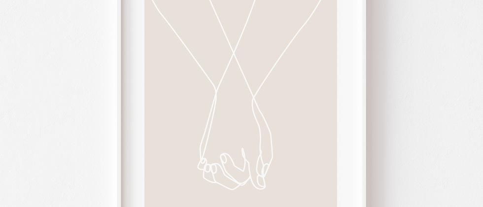 Hands - Art, Wanddeko