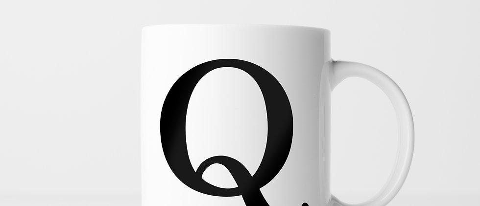 Buchstabe Q - Keramiktasse