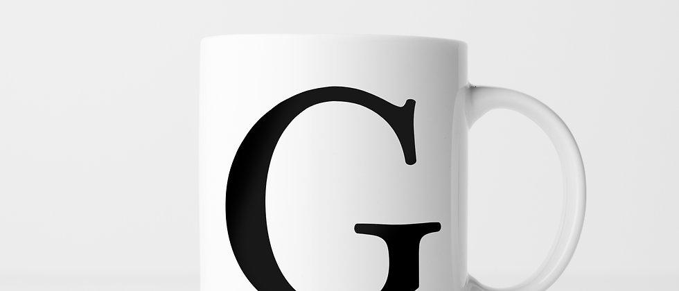 Buchstabe G - Keramiktasse