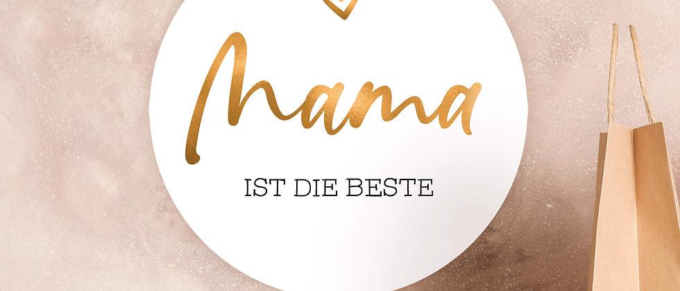 Mama ist die Beste - Aufkleber, 40mm (Varianten+)