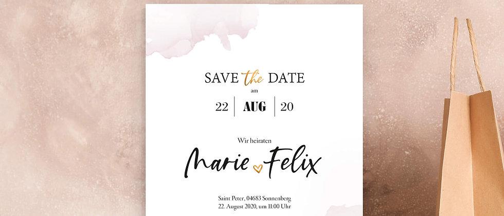 Wir heiraten - Einladungskarten, A6