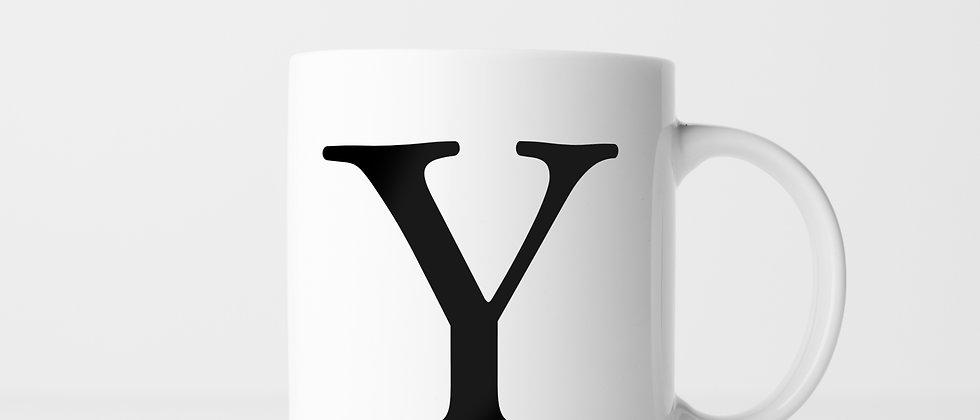 Buchstabe Y - Keramiktasse
