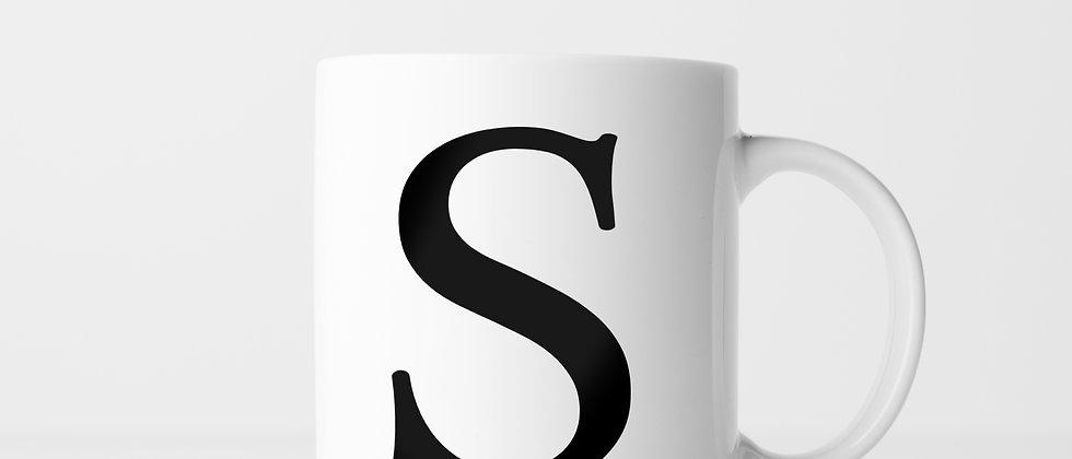 Buchstabe S - Keramiktasse