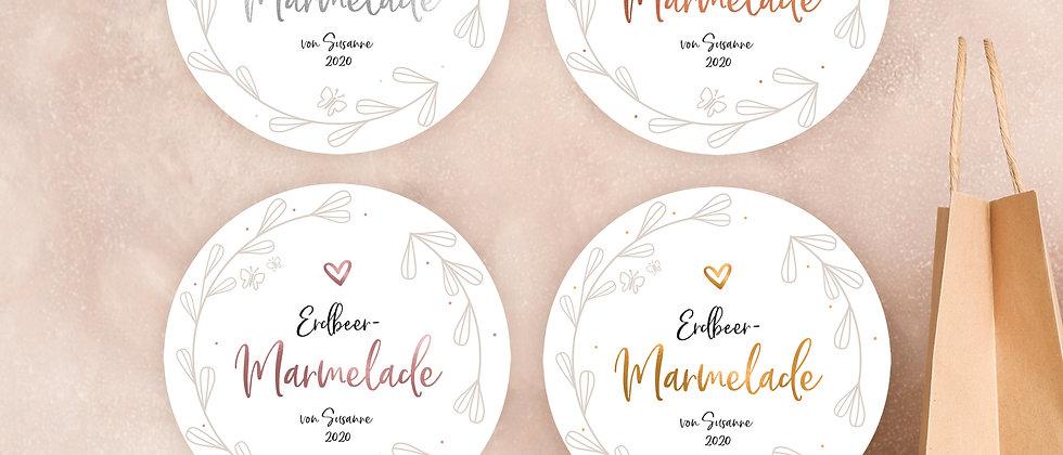 Marmelade - Aufkleber (Farbe+)