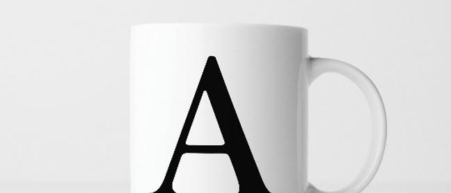 Buchstabe A - Keramiktasse