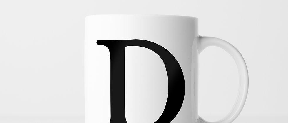 Buchstabe D - Keramiktasse