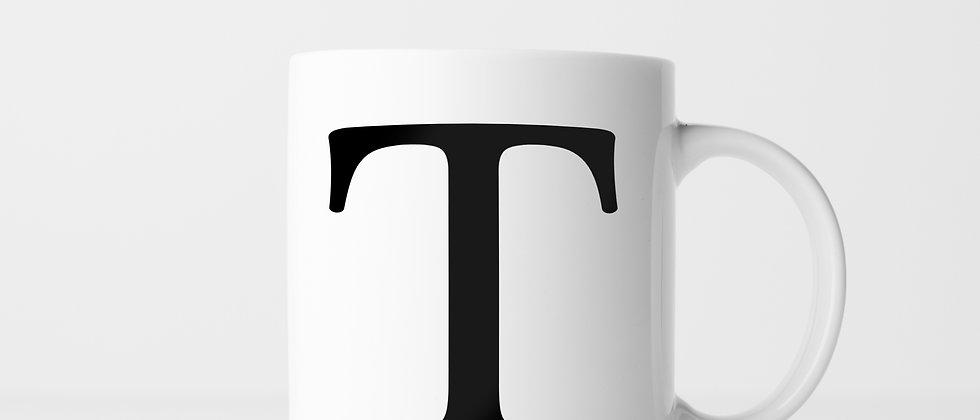 Buchstabe T - Keramiktasse