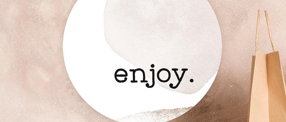 enjoy - Aufkleber (Größe+)