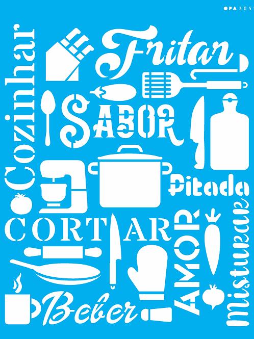 Stencil OPA  20x25 – Culinária Estamparia Cozinha