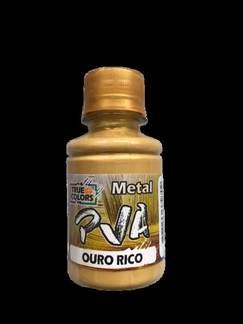 PVA Metal True Colors 100ml - Ouro Rico