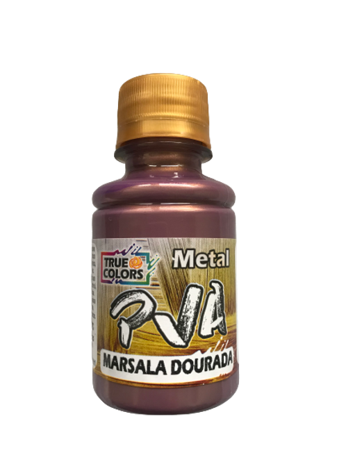 PVA Metal True Colors 100ml - Marsala Dourada