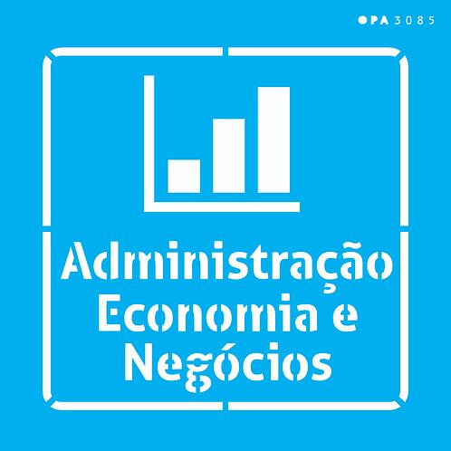 Stencil OPA 14×14 – Profissões Administração