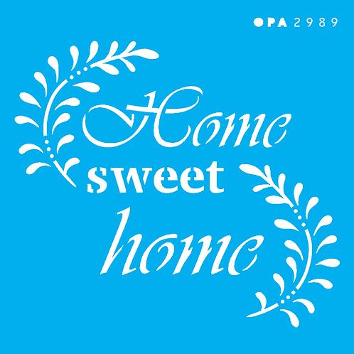 Stencil OPA 10×10  – Frase Home Sweet Home