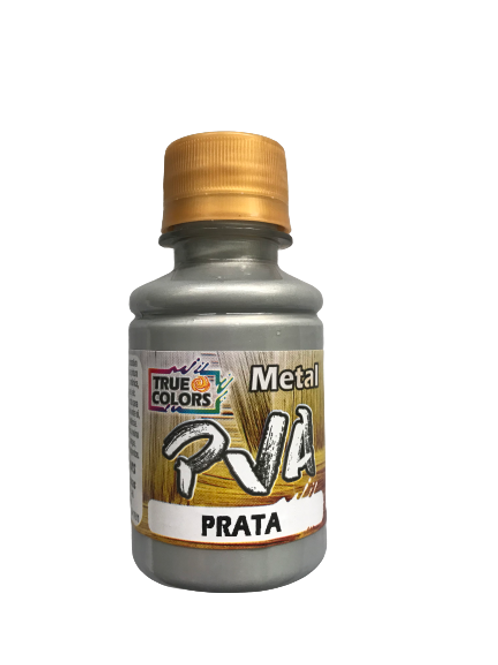 PVA Metal True Colors 100ml - Prata