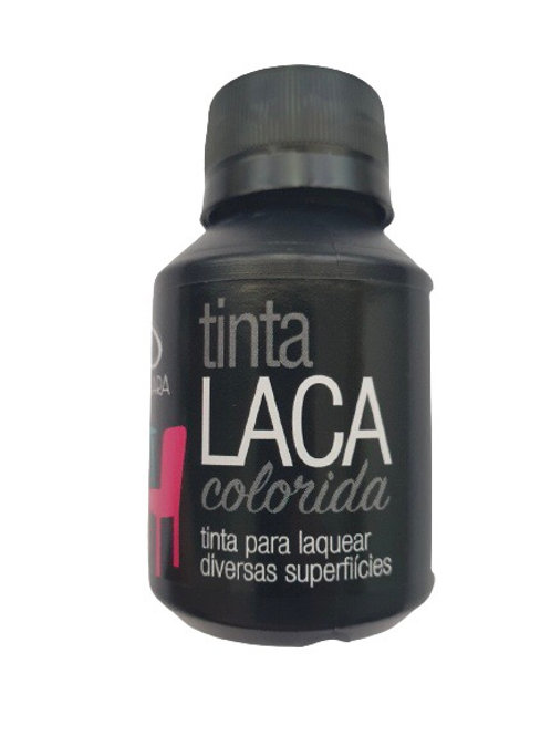 Tinta Laca Colorida Daiara 80ml - Preto