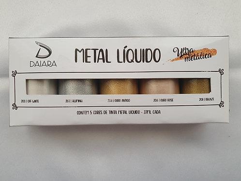 Kit Metal Líquido Daiara 37ml - 5 Tons