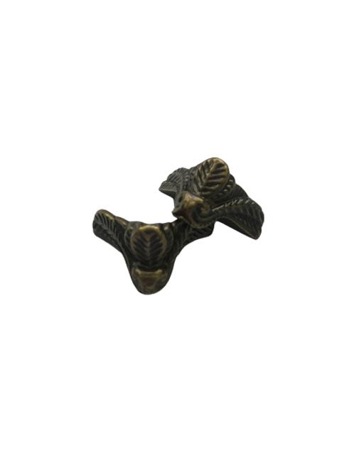 Pezinho de Plástico Bronze - Folhas