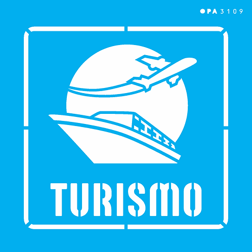 Stencil OPA 14×14  – Profissões Turismo