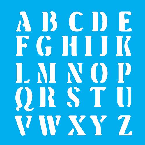 Stencil OPA14×14  – Alfabeto III