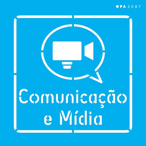Stencil OPA 14×14 – Profissões Comunicação e Midia