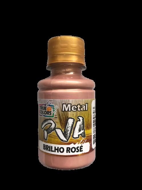 PVA Metal True Colors 100ml - Brilho Rose