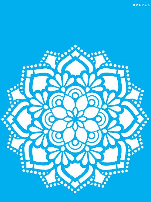 Stencil OPA 20×25 – Mandala Flor Renda